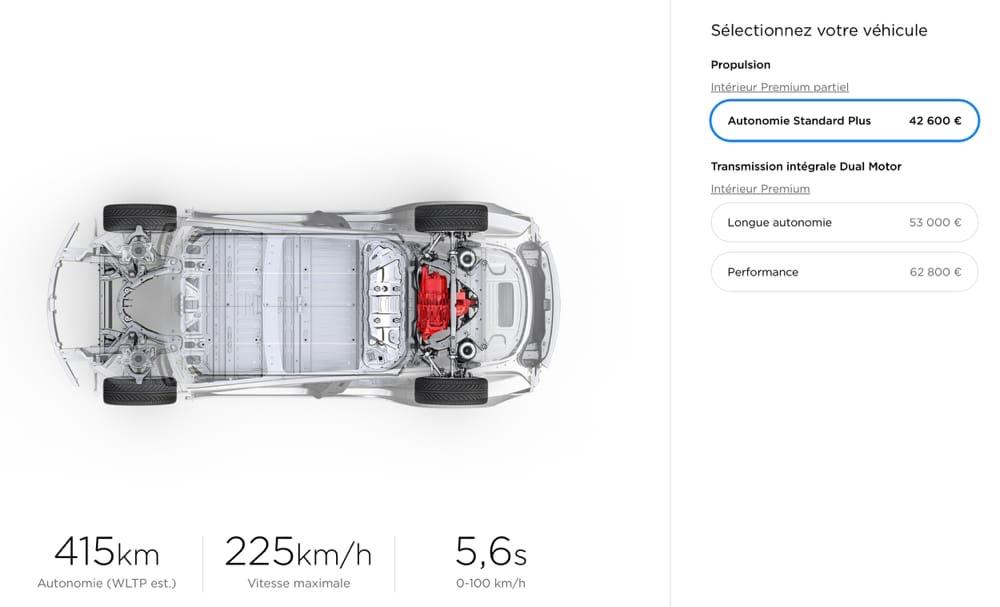 Tesla : fin de la vente en ligne de la Model 3 standard