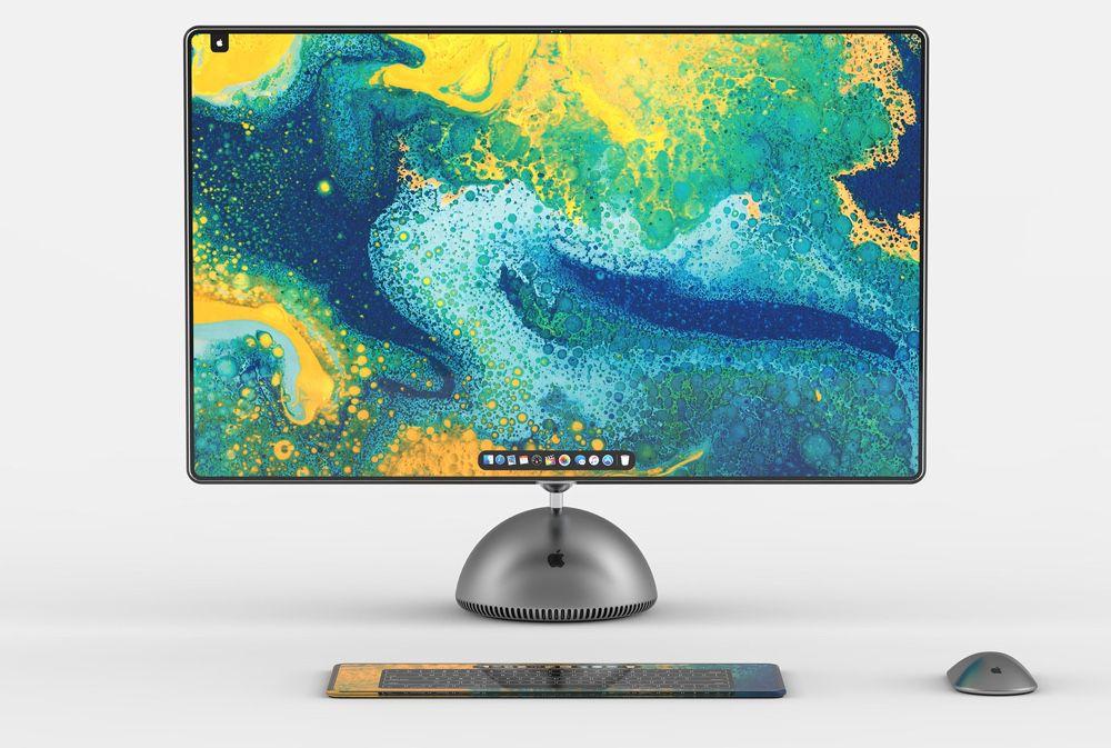 Concept : un iMac G4 remis au goût du jour