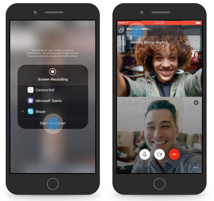 Le partage d'écran arrive bientôt sur smartphone — Skype