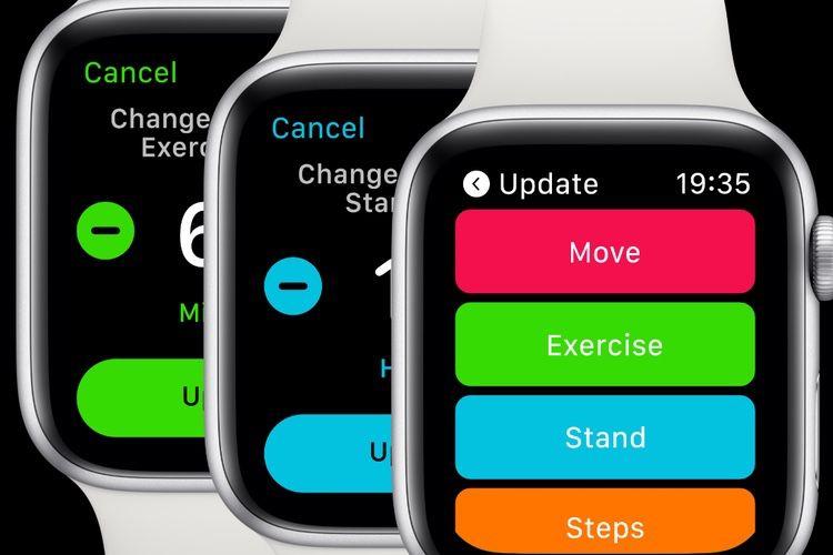 Un concept de watchOS 6 avec Raccourcis, de nouveaux anneaux d'Activité…
