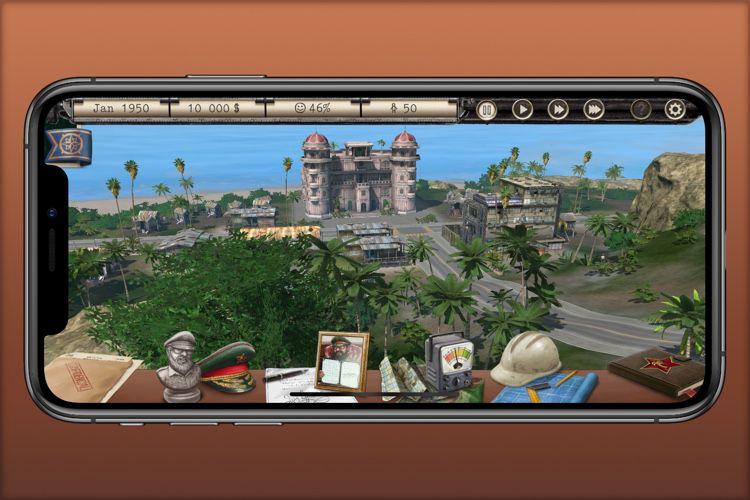 Tropico s'adapte tant bien que mal à l'écran de l'iPhone