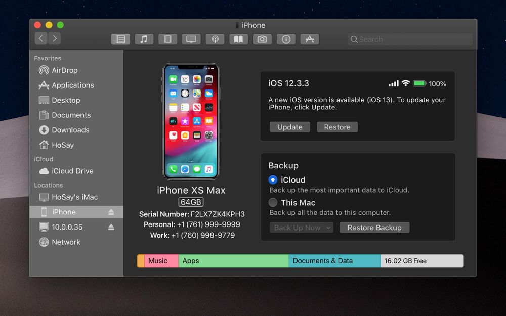 Concept : et si on synchronisait les appareils iOS depuis le Finder dans macOS10.15?