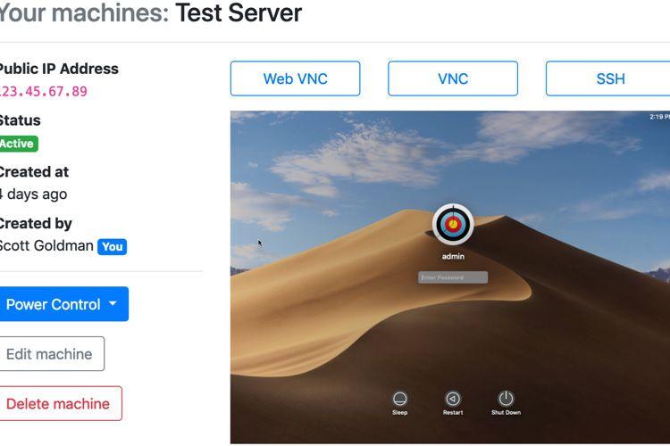 Zeromac fournit un Mac virtuel à partir de 2$ par jour