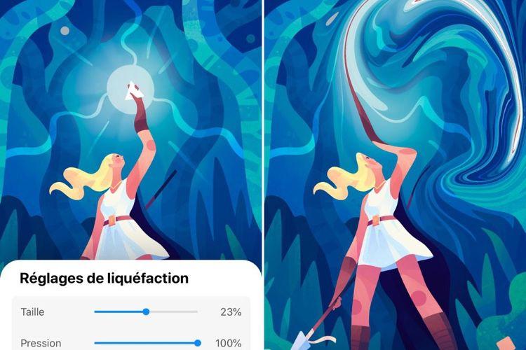 Procreate Pocket 3 : plus d'outils et de réglages pour dessiner sur soniPhone