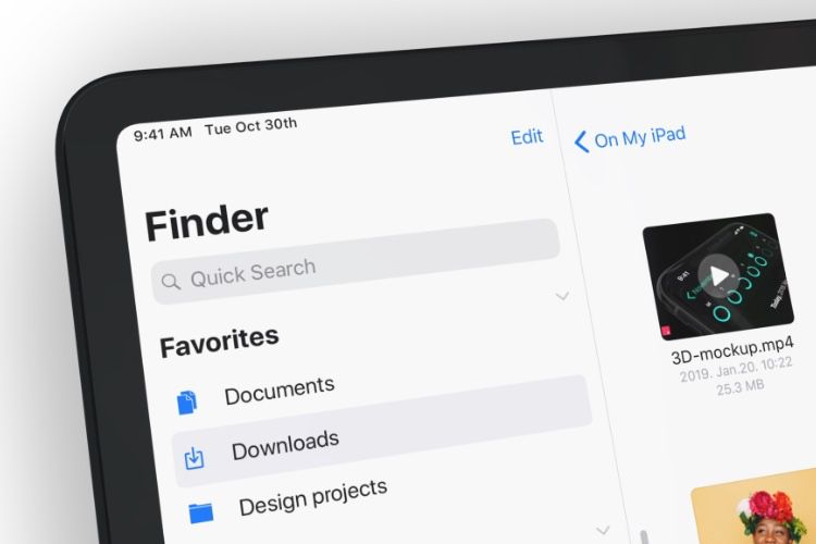 Concept : un Finder pour l'iPad