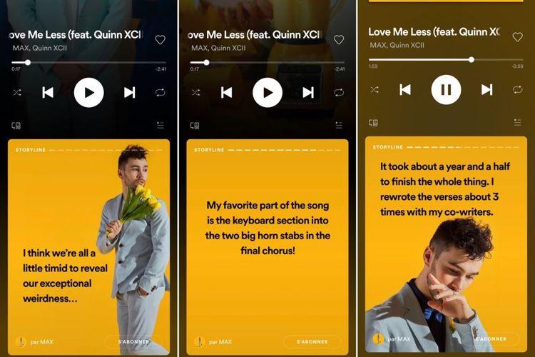 Spotify se met aux stories d'artistes