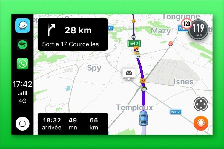 Waze affiche enfin le compteur de vitesse dans CarPlay