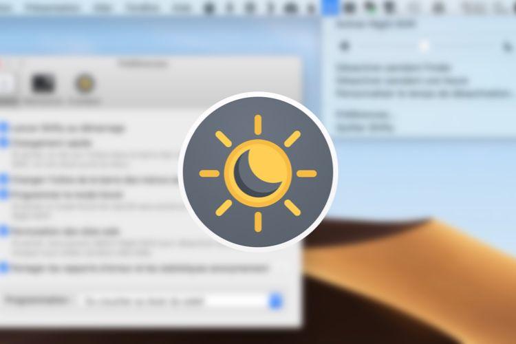 Shifty 1.1 contrôle Night Shift et le mode sombre de macOS en français