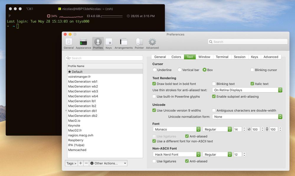 Terminal : lsd liste les fichiers avec des couleurs et des icônes