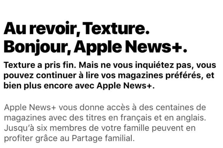 Texture laisse toute la place à Apple News+