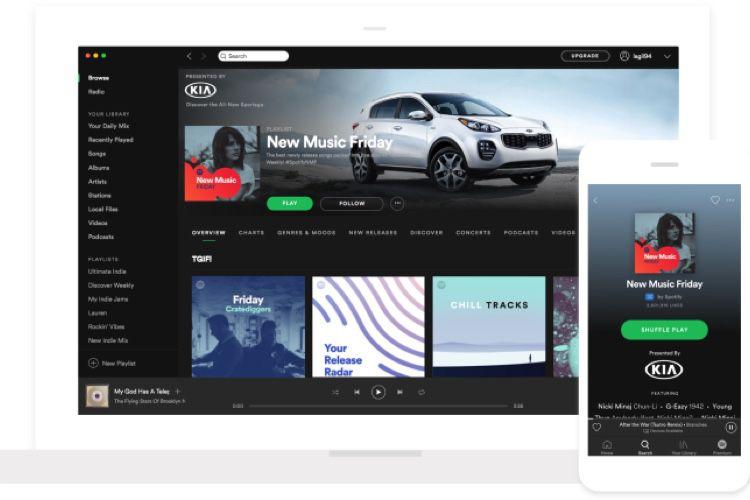 Spotify lance un test de publicités qui réagissent à des commandes vocales