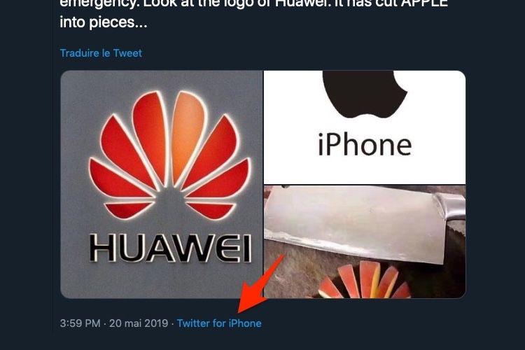 image en galerie : Ivre, cet officiel chinois tweete que Huawei c'est mieux… depuis son iPhone