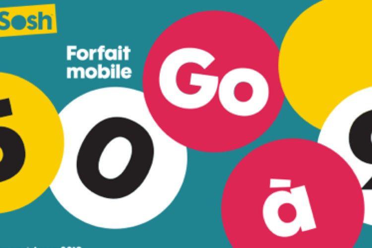 Promo : le forfait Sosh 50 Go de 25€ à 10€ pour un an