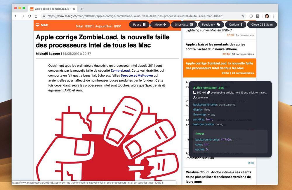 CSS Scan simplifie l'analyse du style des sites dans Chrome et