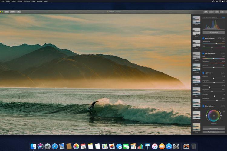Pixelmator Pro 1.3.4 ajuste les couleurs en fonction d'autres photos