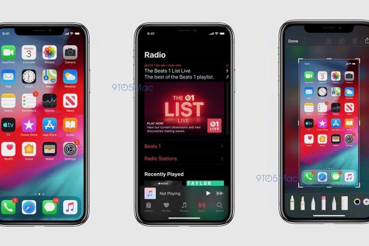 iOS 13: des images officielles en fuite révèlent le mode sombre, la nouvelle app Rappels…