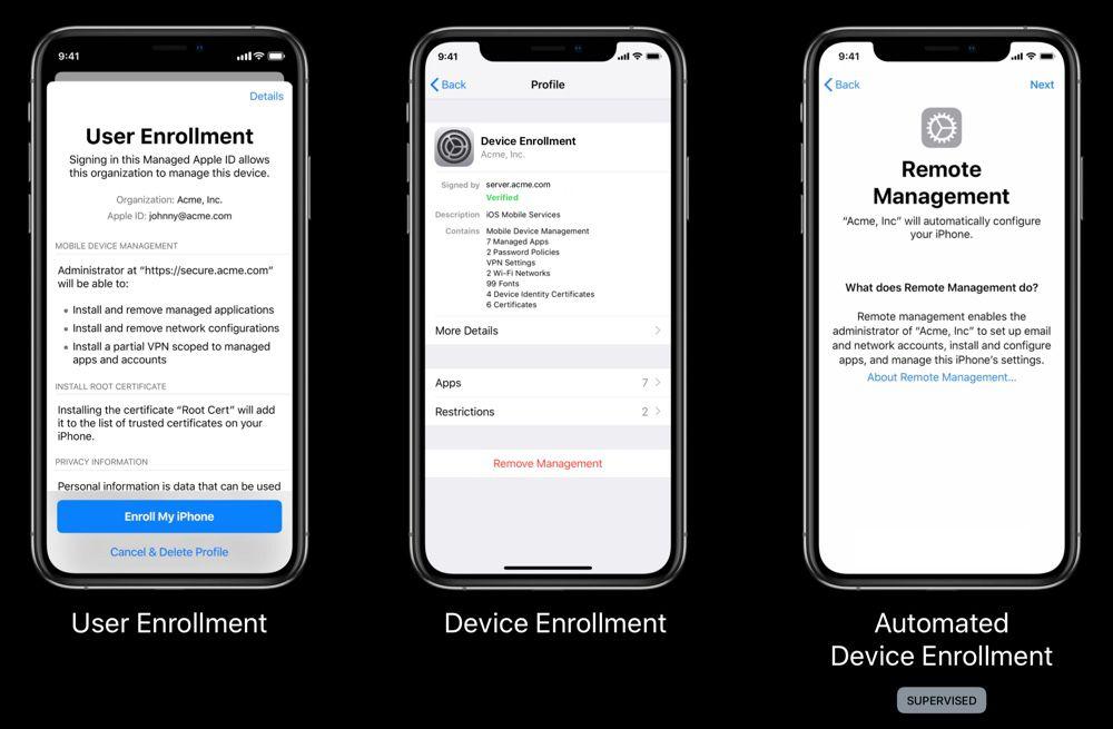 Entreprise : Apple veut favoriser le BYOD avec iOS 13