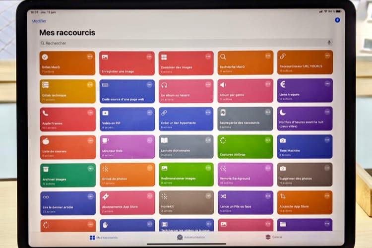 Raccourcis s'intègre en profondeur dans iOS13