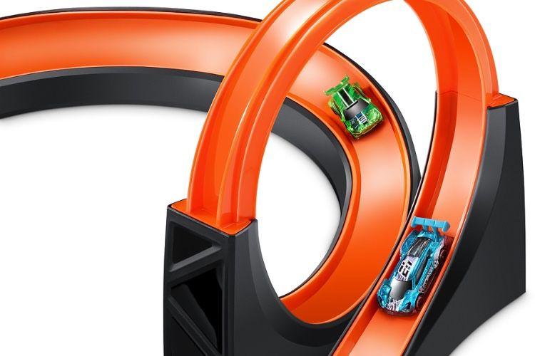 Les voitures Hot Wheels à toute vitesse dans l'Apple Store