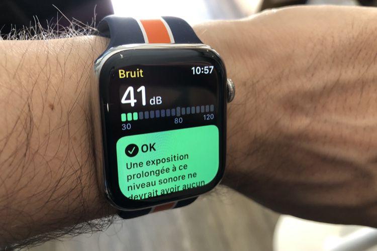 L'app Bruit de watchOS 6 a de l'oreille