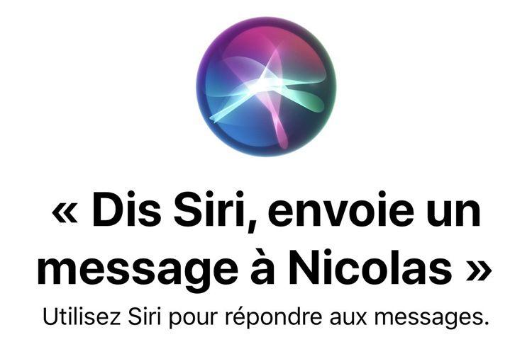 iOS13 signale les messages envoyés avec Siri