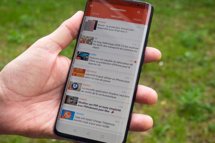 iGeneration 1.2 pour Android: gestion des favoris, des non lus et de la recherche