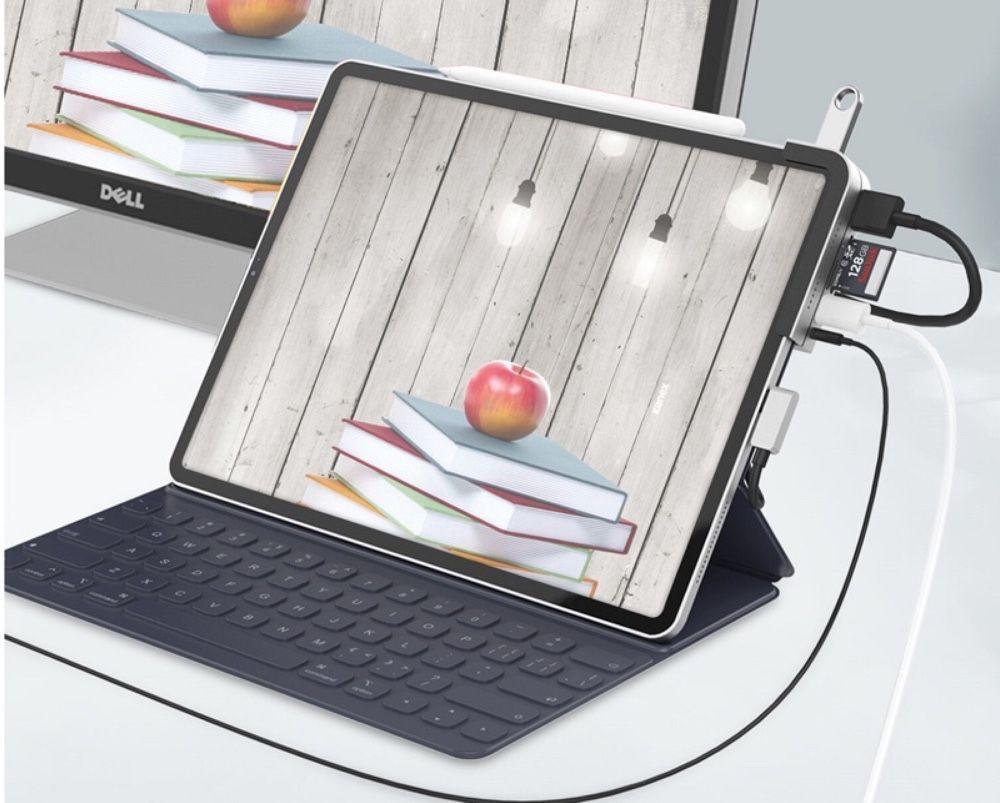 Kanex commercialise un hub USB-C qui reste sur l'iPad Pro