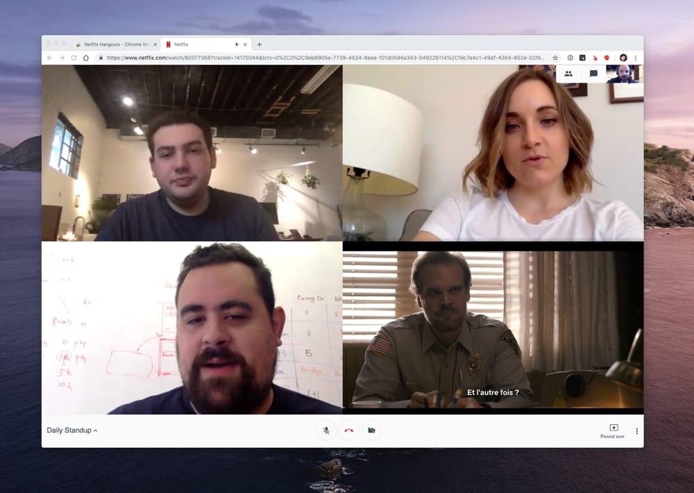 Génie : cette extension pour Chrome déguise Netflix en visio-conférence