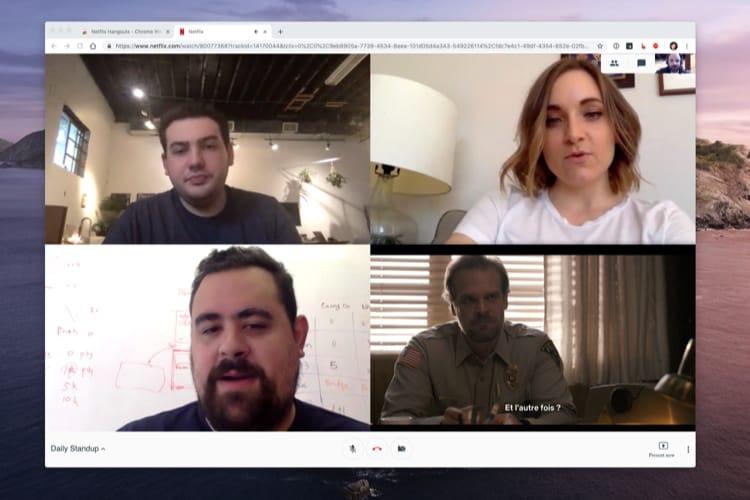 image en galerie : Génie : cette extension pour Chrome déguise Netflix en visio-conférence