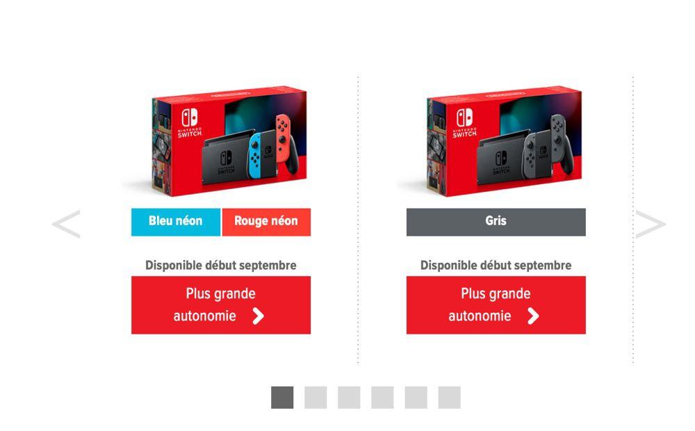 Une meilleure autonomie et de nouveaux Joy-Con — Nintendo Switch