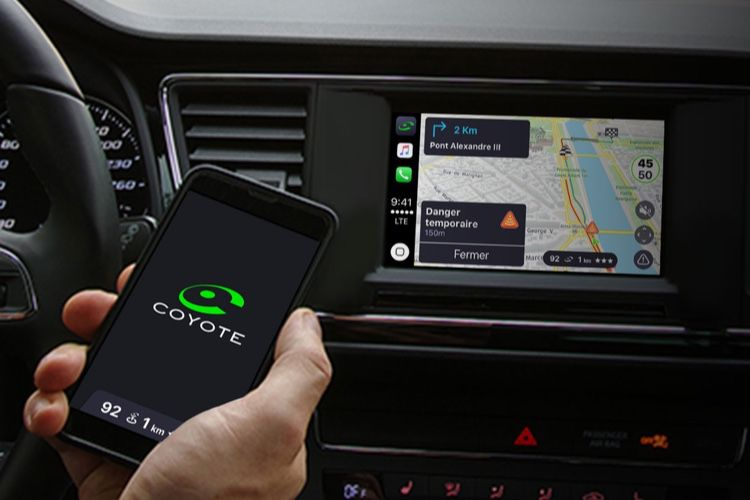 Coyote est enfin compatible CarPlay