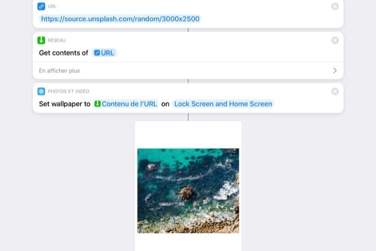 Avec iOS13, Raccourcis pourra changer le fond d'écran