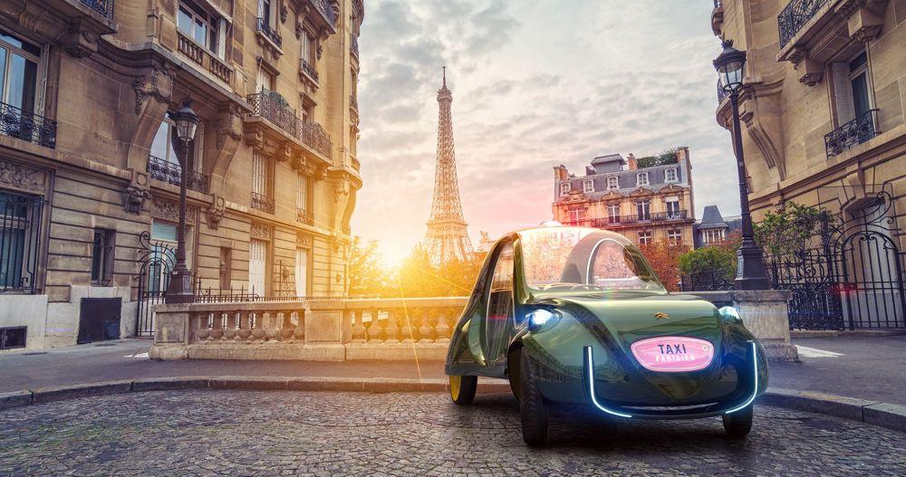 Martin Hajek imagine le taxi parisien du futur