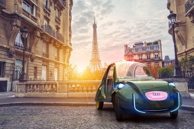 image en galerie : Martin Hajek imagine le taxi parisien du futur