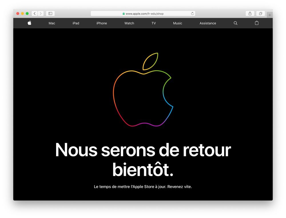 L'Apple Store Education est fermé, Back to School ne devrait plus