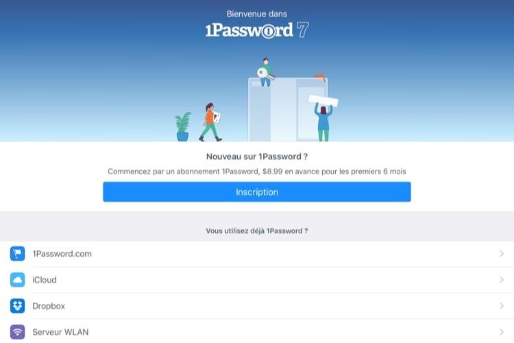 1Password ne peut plus créer de coffre indépendant sur iOS