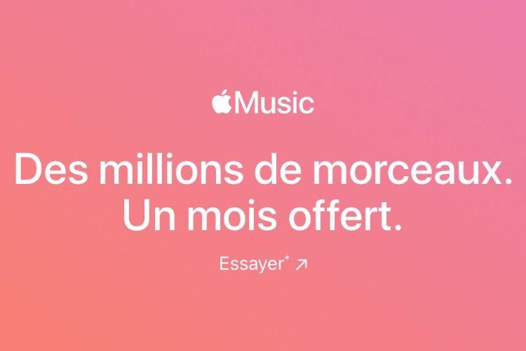 Apple aurait en tête de réduire à un seul mois l'offre d'essai gratuit à AppleMusic [màj]