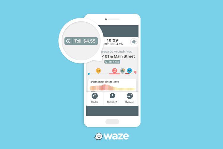 Waze indique le prix des péages sur les itinéraires américains