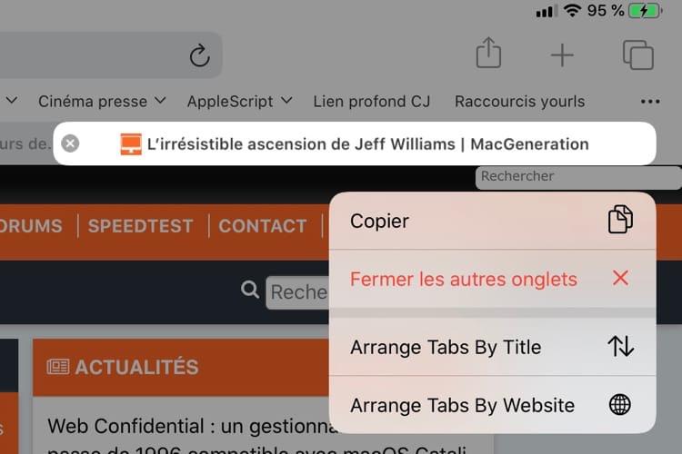 Safari récupère d'autres fonctions de macOS avec iOS13 bêta3