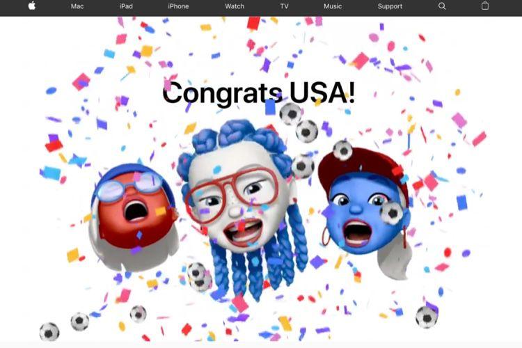 image en galerie : Les Memoji fêtent la victoire de l'équipe américaine