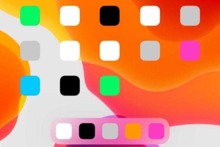 iPadOS 13 peut afficher moins d'icônes, mais plus grandes