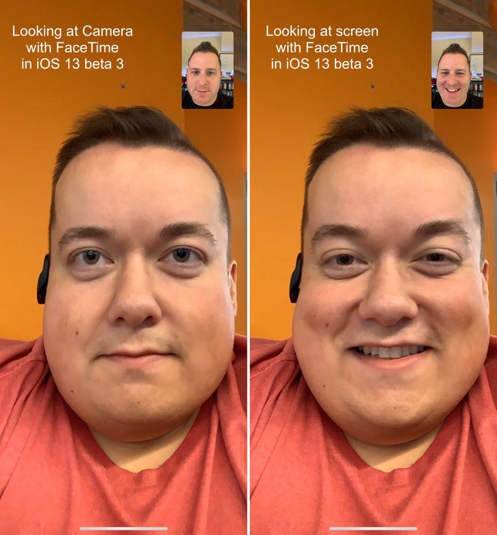IOS 13 : FaceTime va regarder droit dans les yeux