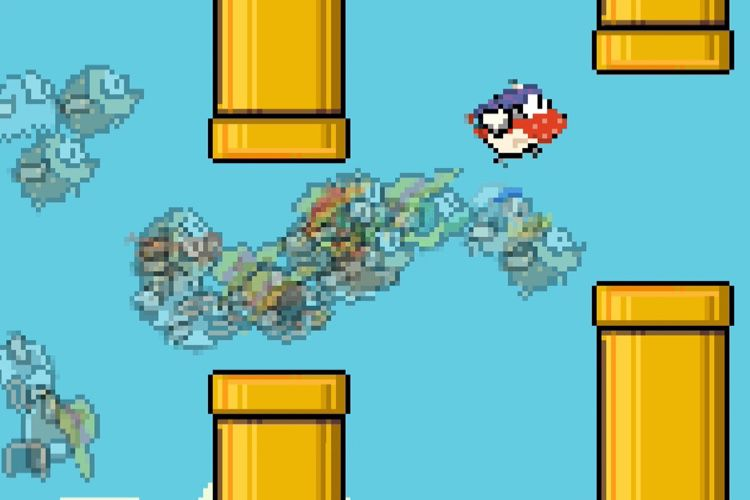 Flappy Royale enrichit Flappy Bird avec une dose de Fortnite