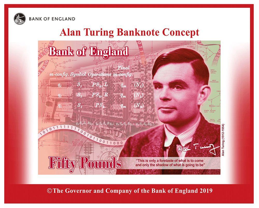 Alan Turing, nouveau visage des billets de 50£