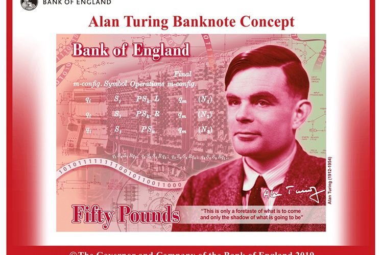 image en galerie : Alan Turing, nouveau visage des billets de 50£