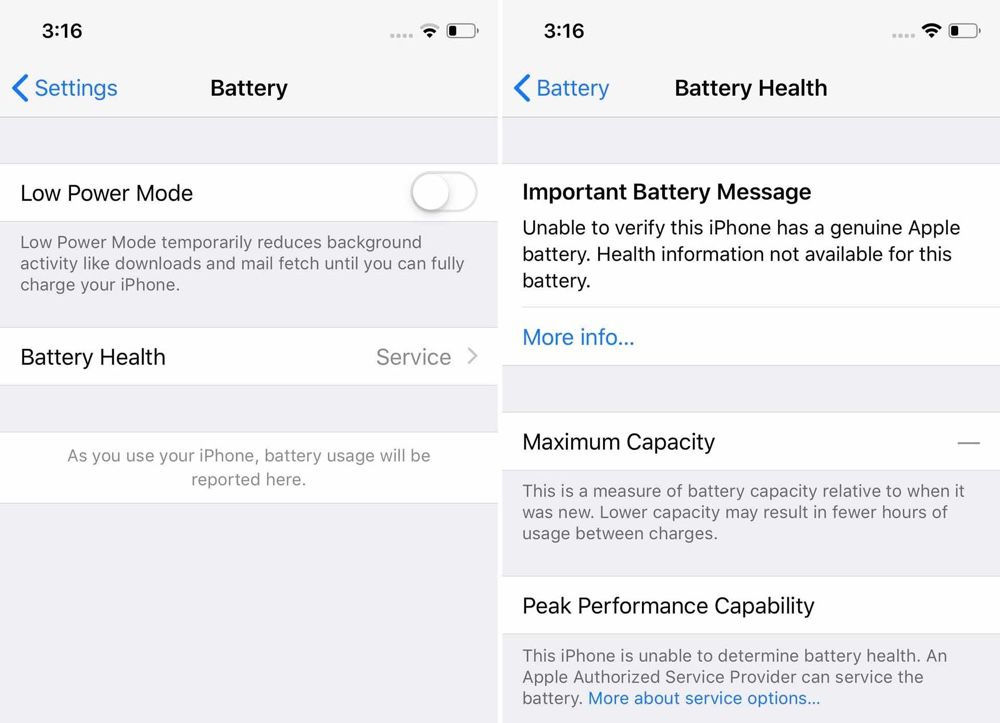 Apple vous décourage de faire réparer votre batterie en la
