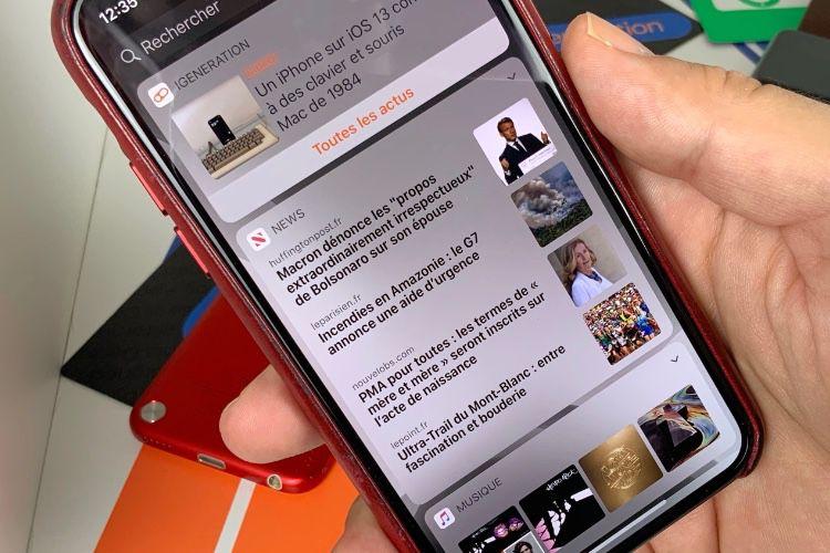 En France, le widget News s'enrichit de nouvelles publications