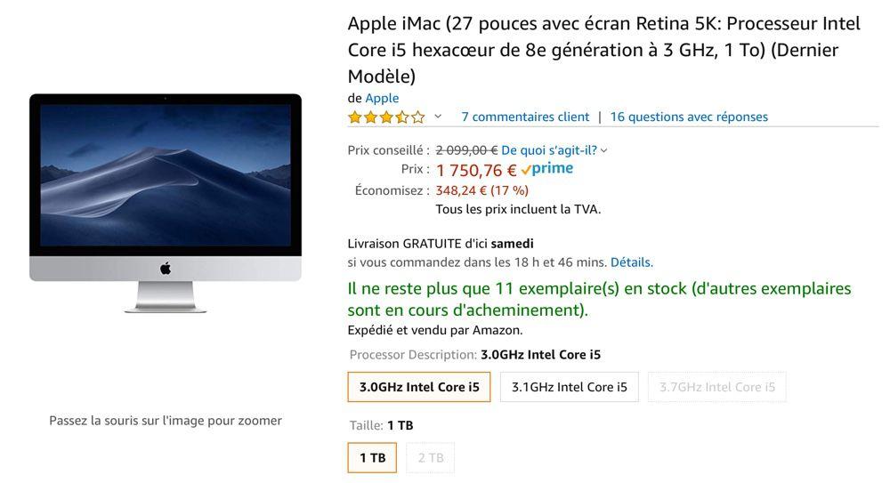 Promos : -377 € sur le nouvel iMac 5K, -169 € sur l'iPad Pro 12,9,