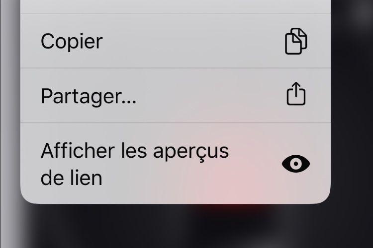 iOS13 : dans Safari, l'aperçu des liens web au cas par cas