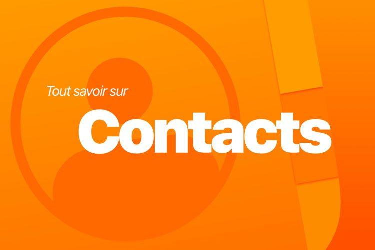 Tout savoir sur Contacts avec notre nouveau livre